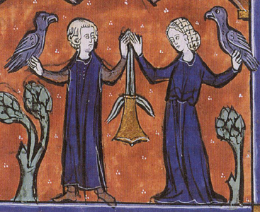 Last 13thc illumination of the marital purse