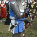 1350s surcotte, worn with armour