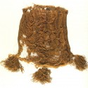 Half-silk velvet purse with tassels at the Museum of London