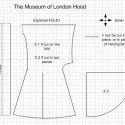 An extrapolation of the Museum of London hood fragment