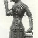 Pewter milkmaid