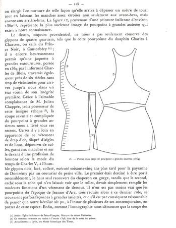 Charles de Blois pourpoint body pattern