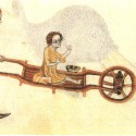Giving alms in the Luttrell Psalter