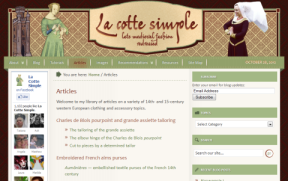 Look and feel of the new La cotte simple site