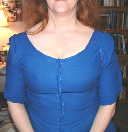 Front view with sleeves set in