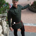 A civilian doublet, made for Sean Hayes by Aurora Simmons