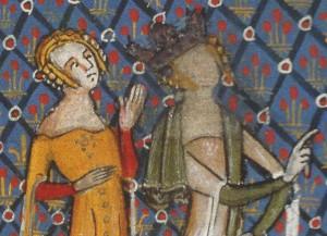 Lancelot du Lac, 1345+, Tournai,  BNF Ms. fr. 122 f.109v