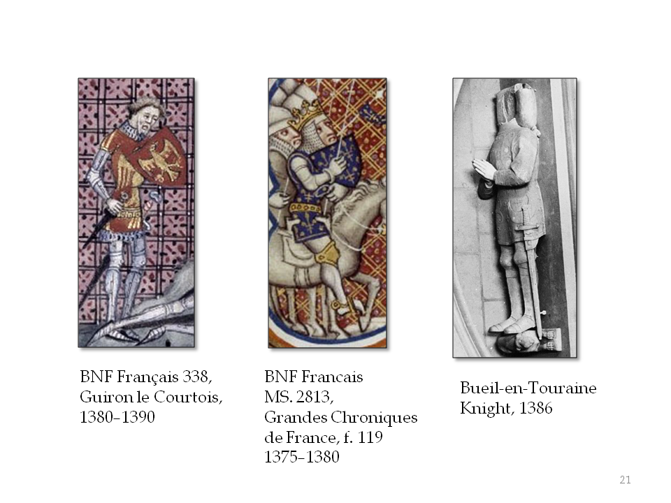 """Coats with heraldic devices, hence, """"coats of arms"""""""