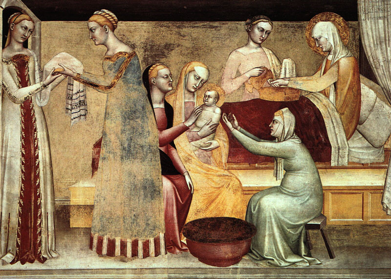 Giovanni Da Milano, Birth of the Virgin, Rinuccini Chapel, Santa Croce, Florence