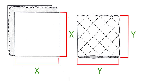 Diamond quilting pattern