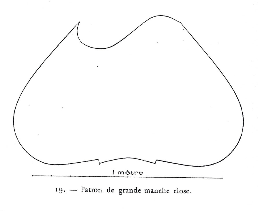 Fig. 9. Adrien Harmand's pattern for a bag sleeve