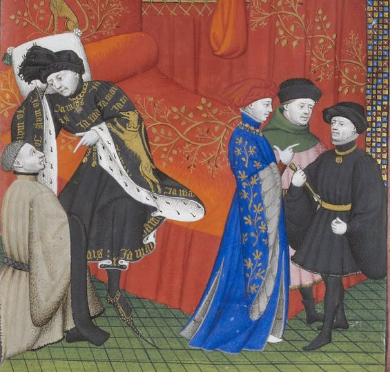 Fig. 3. The Author Presents His Book to the King
