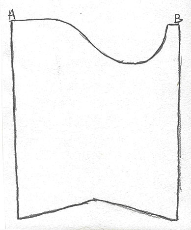 Diagram of how the sleeve might have originally looked