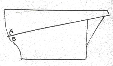 Diagram of how the exhibited sleeve would sew together