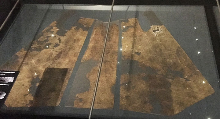 Some of the surviving garment pieces of Rudolf I