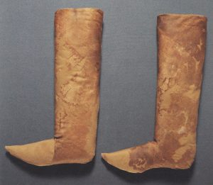 Tall slippers believed to be Charles IV's