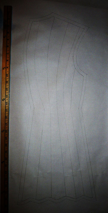 Final drafted back pattern