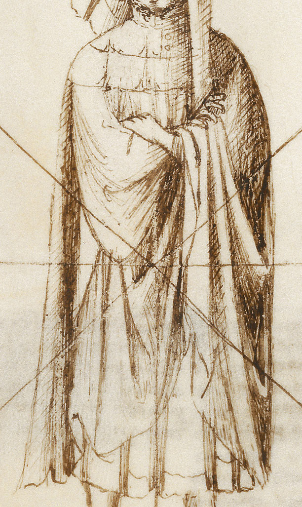 The Master's full garnache and gown as originally drawn.