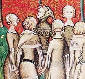 From Le Remède de Fortune, Le Dit du Lion by Guillaume de Machaut. BNF MS Français 1586, f51. France, circa 1350.