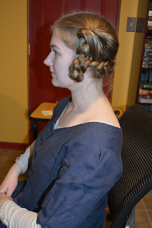 Side view of the hairstyle. The general shape was correct, but I felt the underlying architecture was flimsy.
