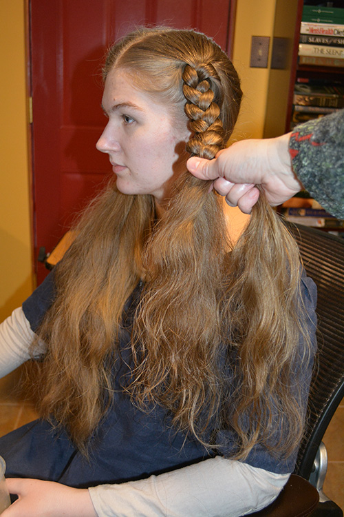 Face-Framing Braids—Recreating a 14th-Century Hairstyle