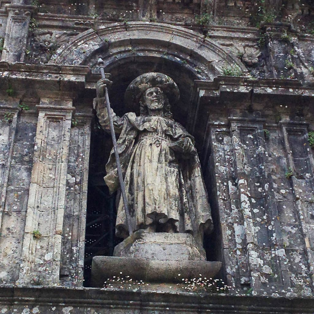 St. James on the cathedral bearing his name in Santiago de Compostela.