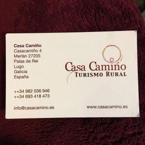 Casa Camino, Turismo Rural is a wonderful oasis of luxury, good food, and good company on the Primitivo. It's located past San Ramao da Retorta.