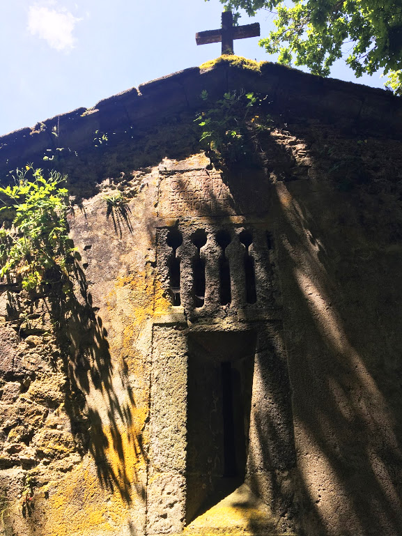 A long forgotten 12th century church in the crumbling remains of a medieval village.