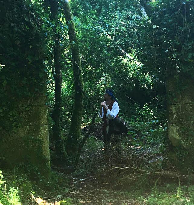 Matt among the ruins.