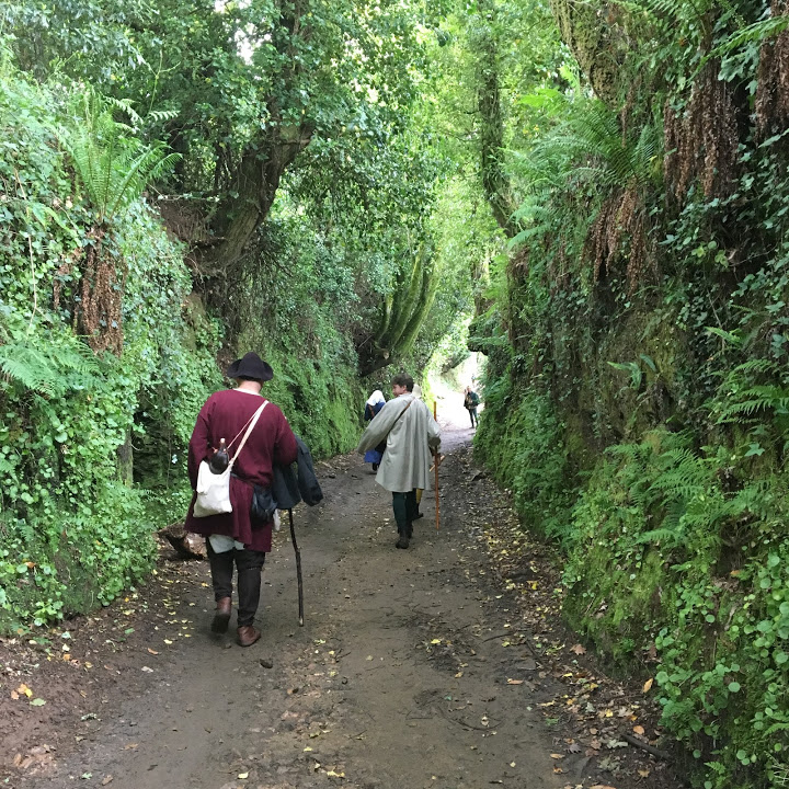 Even while closing in on Santiago de Compostela, we still walked through beautiful sunken paths through solid greenery.