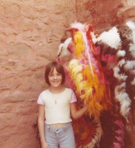 Summer 1978, the author visiting the pueblos in Colorado Springs, CO, USA
