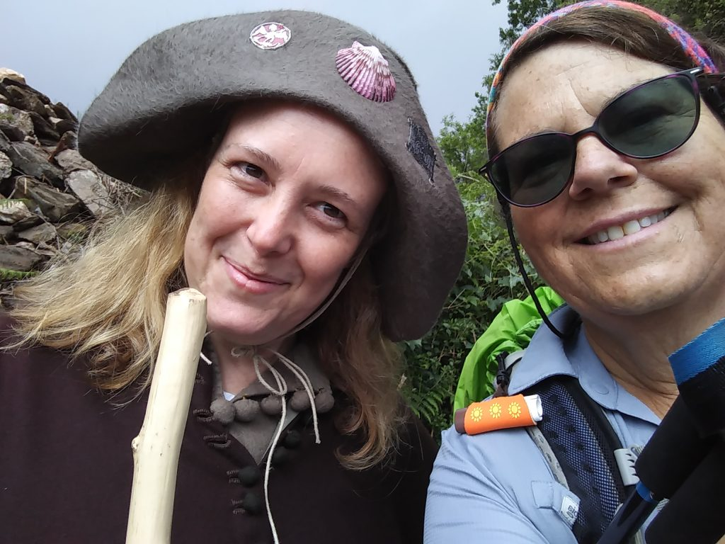 Karen of hikearumba.com and I pose for her selfie. We talked about Greg and his vow to do the Camino after he recovered from his accident.