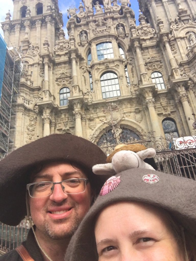 """Without a selfie stick, we settled for a """"selfito"""", my name for a selfie taken in Spain where you can only fit part of your head in the shot."""