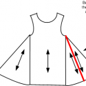Piecing gores on a tunic