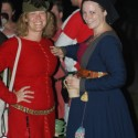 Dressed as a boy, with Charlotte Johnson on right