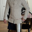 A thinly-padded late 14thc-style gambeson, made by Ian LaSpina