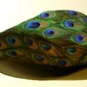 Beak hat, covered in peacock eyes