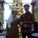 Tasha and Greg before the Christmas tree